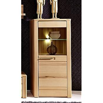 Stella Trading Buche Geölt Kernbuche Massiv Wohnzimmer Vitrine Schrank,  Holz, Braun, 40 X 60 X 127 Cm