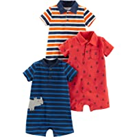 Simple Joys by Carter's 3-Pack Rompers Bimbo 0-24, Pacco da 3
