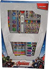 Disney Avengers Coloring Folder and Stationery Set - 66 Pieces (Multicolour)