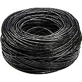 Amazon Basics - Cable de Ethernet liso Cat6, 23 AWG (0,57 mm), UTP de 304,8 metros en Negro
