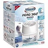 Ariasana Aero 360° Bagno Kit assorbiumidità, Deumidificatore bagno con efficace ricircolo d'aria, Deodorante bagno assorbi umidità, 1 dispositivo e 1 ricarica in Tab da 450g