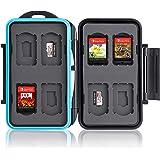 Ares Foto® Skyddslåda, Lagring, Fall, Väska, Memory Card Case, Card Safe för 8 Nintendo Switch-spel