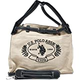 U.S. POLO ASSN. Womens Shoulder Bag, Natural/Black - BEUEE2780WUPN03 One Size