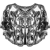 Riclahor 20er Jahre Accessoires Retro Schal Umschlagtücher Charleston Kleid Damen Fascinator 20er Jahre Kleid Pailetten…