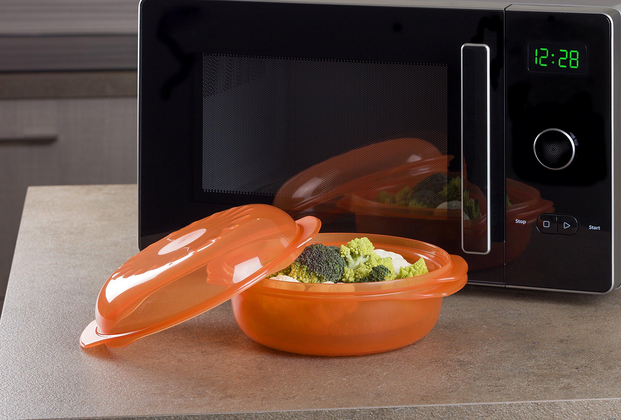 Credenza Per Microonde : Whirlpool stm006 vaporiera rotonda per forno a microonde arancio