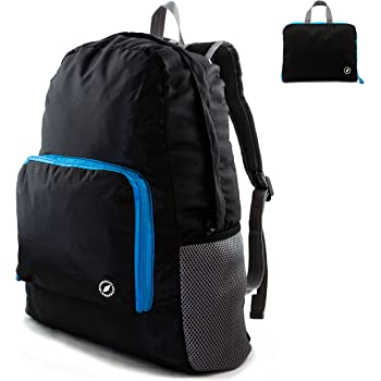 GLOBEPROOF® Mochila De Senderismo Plegable 10l, Negro-Azul, GPFB201701