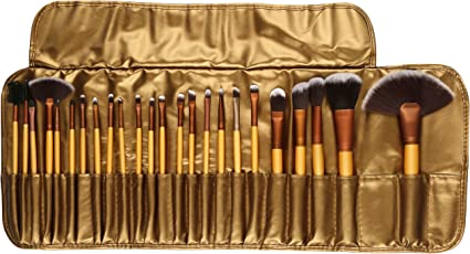 Foolzy Brush Book ! Makeup Brush Collection (24 Pcs Gold)