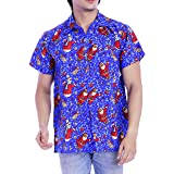 Virgin Crafts Christmas Hawaiian Shirts for Men Women Santa Claus Vacation Beach Party Aloha Shirt