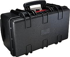 امازون بيسكس حقيبة خاصة بالكاميرات بتصميم صلب، حجم كبير - اسود