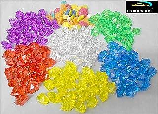 Happie Shop HS Aquatics Aquarium Multi Crystal Mix Decorative Stones - 500 Grams Approx.