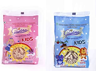 Gustora Kids Pasta,500gm (Combo Pack of My Princes and My Toys)