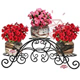 NAYAB 3 Tier Tuscan Style Garden Flower Pot Stand Balcony Indoor/Outdoor Plant Holder Multiuse Display Rack