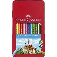 Faber-Castell 115801 - Buntstift Hexagonal, 12er Metalletui