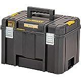 DEWALT TSTAK DWST83346-1 Diepe gereedschapskist, 44 l volume, grote doos, combineerbaar met andere TSTAK-boxen, veilige opsla