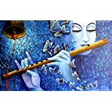 KYARA ARTS Wood Framed Painting, Multicolour, 60 x 30 inch