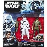 Hasbro Star Wars B8612ES0 - E7 Battle-Action Basisfiguren 2er Pack - Poe Dameron und First Order Snowtrooper, Actionfigur
