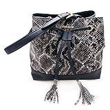 Zerimar Frauen Ledertasche   Ledertasche für Damen   Tasche Damen Umhängetasche   Farbe: Schwarz   Massnahmen: 28x28x18…