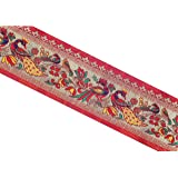 Enchantress Brocade Saree Falls LAce Border Reel Jacquard Woven Embroidery Work Peacock Angry Birds 9 Meter Red