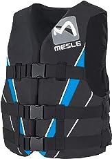 MESLE Schwimmweste V210 blk-Blu, 50N Schwimmhilfe für Erwachsene und Jugendliche