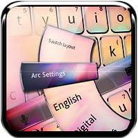 Leuchtenden Farben Tastatur