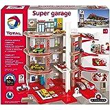 STARLUX Total-Super Garage Station-Service Complète-Dès 3 Ans-Fabrication européenne, 401006, Rouge Gris Noir