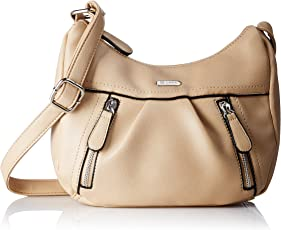 Lavie Women's Sling Bag (Beige)