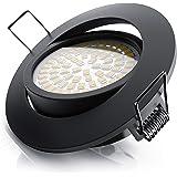 Brandson - Spot intérieur LED plafon, dimmable, encastrable, orientable - 5W - 230V - 320 lumens, ultra plat - Structure en a
