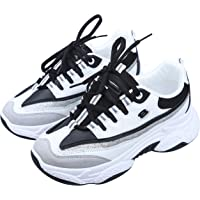Irsoe Latest Ladies Inner High Heel Sports Lace Running Shoes,Super Soft and Comfortable Sneakers