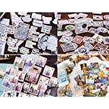 4 scatole francobollo Adesivi in diversi stili(180 Pz)per Scrapbooking Stickers Biglietti d'auguri Regali Diario Album Fai da