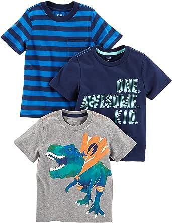 Simple Joys by Carter's Confezione da 3 Magliette A Maniche Corte. Infant-And-Toddler-t-Shirts Bimbo 0-24 (Pacco da 3)