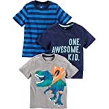 Simple Joys by Carter's Confezione da 3 Magliette A Maniche Corte. Infant-And-Toddler-t-Shirts Bimbo 0-24 (Pacco da 3)