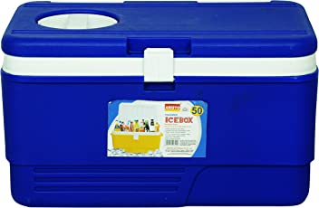 Aristo Insulated Chiller Ice Box With Vent Lid 50 Ltr (Blue)