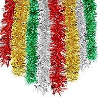 HOWAF 8pcs 14m Noël Guirlandes Tinsel de Noël Guirlande de Sapin Noël Décoration Scintillantes Maison Intérieur…