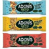 Adonis Low Sugar Barritas de Nuez con Poco Azúcar - Selección Mixta | 100% Natural, Baja en Carbohidratos, Sin Gluten, Vegano