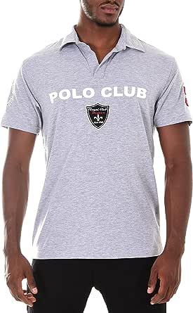 Baxmen Party Herren Polo Club Shirt Poloshirt kurzarm schwarz