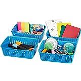 Amazon Brand - Solimo Storage Basket, Set of 4, Small, Blue