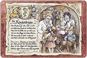 Geschenk Kinderarzt Kinder/ärzte Arzt Doktor Zeichnung Color 20 x 15 cm