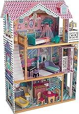 KidKraft 65934 Annabelle Puppenhaus aus Holz mit Zubehör für 30 cm große Puppen mit 17 Accessoires und 3 Spielebenen