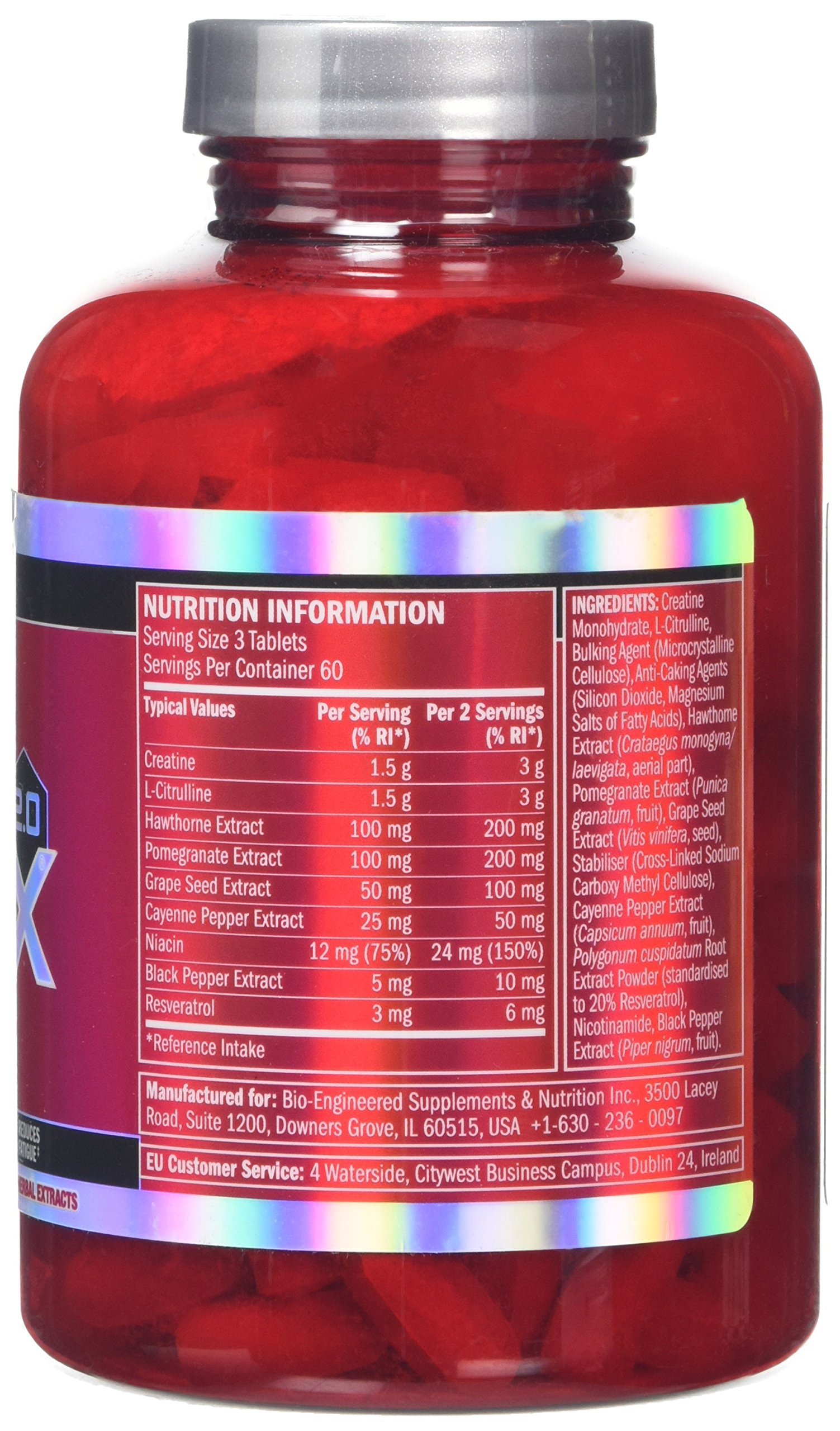 BSN Nitrix 2.0, Food Supplement with Creatine Monohydrate, L-Citrulline, Niacin, Black Pepper and Herbal Extracts, Sport…