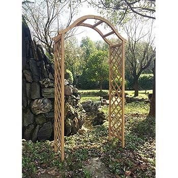 Greenfingers Japanese Style FSC Wooden Fir Garden Arch Plant Climber Trellis