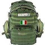 Zaino Militare Tattico D'assalto 40 Litri Esercito Italiano. Multitasche Capiente per Escursionismo, Montagna, Trekking, Soft