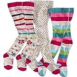 WELLYOU leotardos para bebés/niños, medias para niñas, pantimedias para bebés/niñas, colorido conjunto de 3 medias con puntos