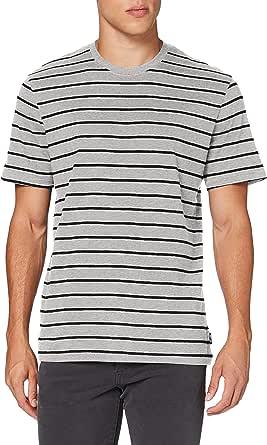 Only & Sons Men's Onsmel Life Reg Ss Stripe Tee Noos T-Shirt
