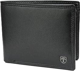 TRAVANDO ® Geldbeutel Männer Oslo - Doppelnaht - TÜV geprüft - 14 Kartenfächer - Querformat - RFID Schutz - Doppelscheinfach - inklusive Geschenk Box - Designed in Germany