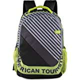 American Tourister Pop Nxt 01 Black Lime Casual Backpack