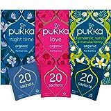 Pukka Thee Relax Bundel - 60 zakjes - 3 smaken x 20 zakjes