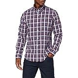 Izod Men's Poplin Plaid Bd Shirt Casual