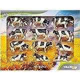 Unbekannt KidsGlobe 1000587 - Kühe Set für Siku, Bauernhofzubehör, 12 Stück