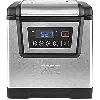 Caso SV 500 - Sous Vide Garer, Temperatur in 0,1C Schritten einstellbar inklusiv Halter für Vakuumbeutel, 1200 W, silber