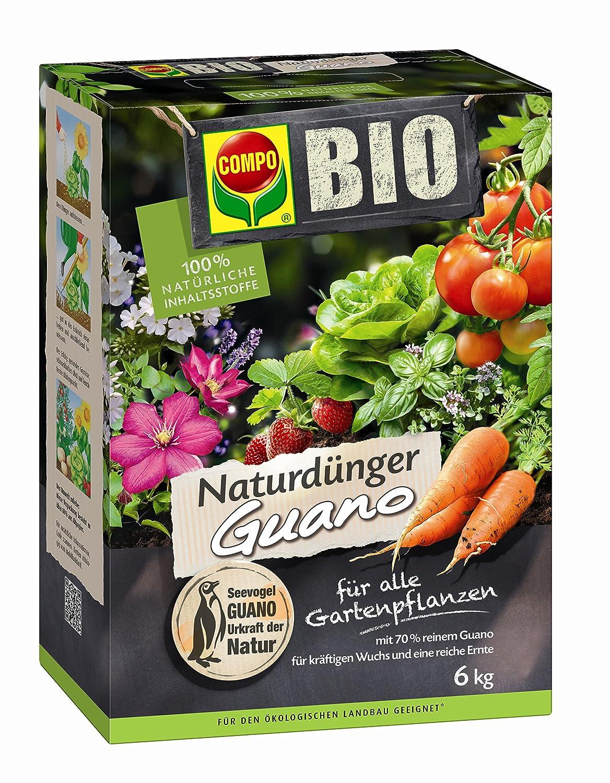 COMPO BIO Naturdünger mit Guano für alle Gartenpflanzen